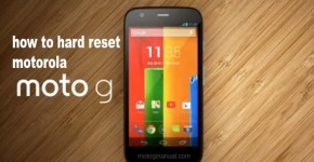 how to hard reset motorola moto g
