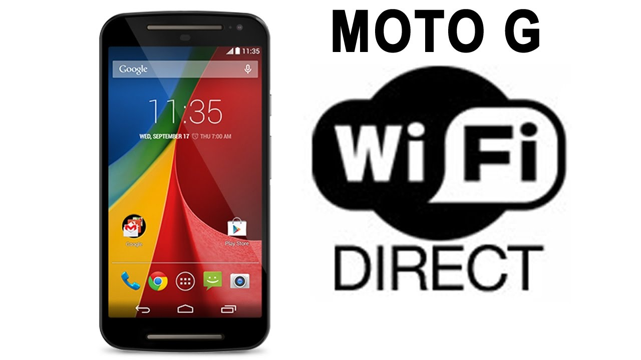 The Application of Wi-FI Direct for Sending Files on Moto G to X Series